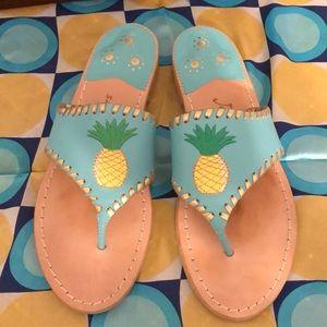 Jack Rogers Pineapple Sandal Turquoise